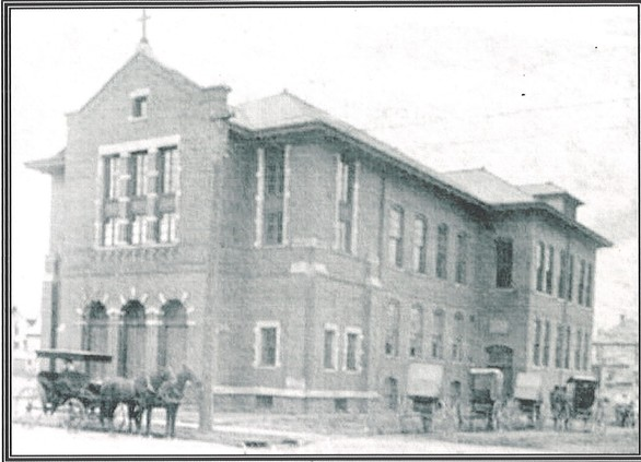 Blessed Sacrament Church and School, 1905
